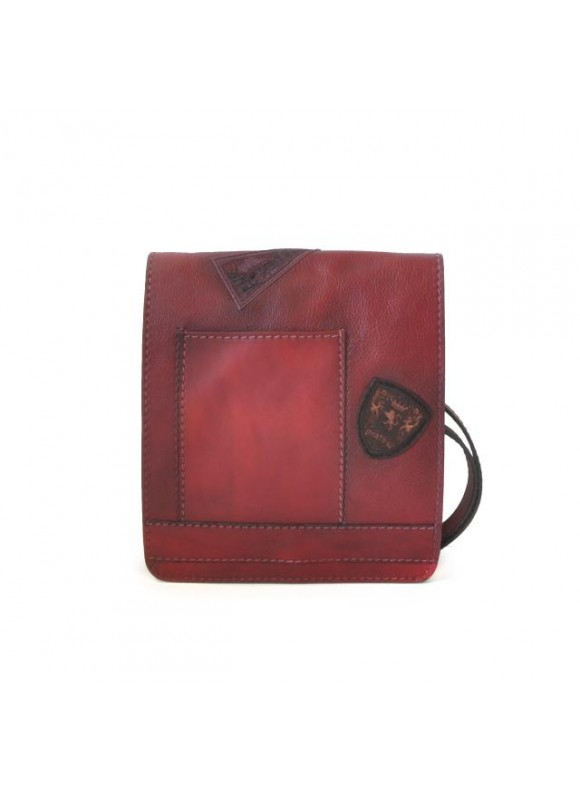 Pratesi Messanger Medium Cross-Body Bag in cow leather - Bruce Chianti