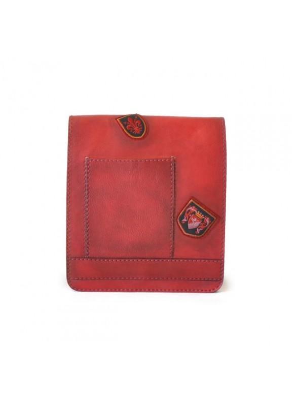 Pratesi Messanger Medium Cross-Body Bag in cow leather - Bruce Cherry