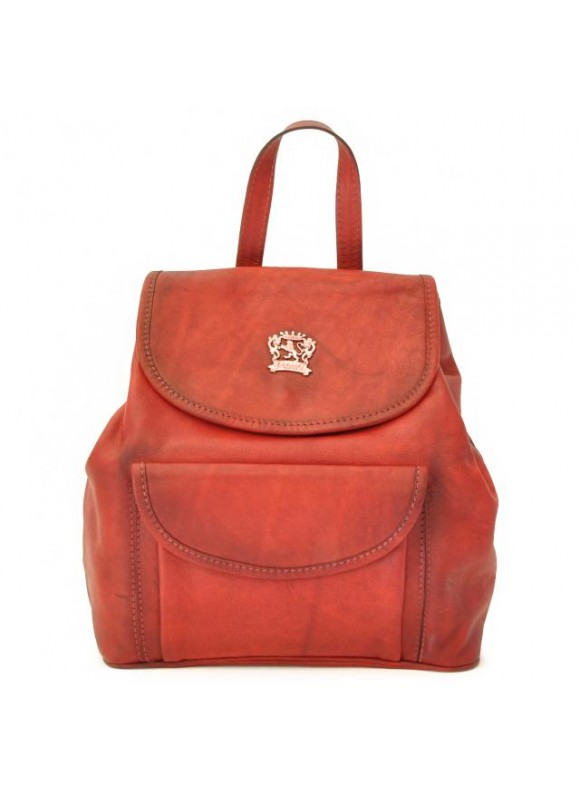 Pratesi Gaville Backpack in cow leather - Bruce Cherry
