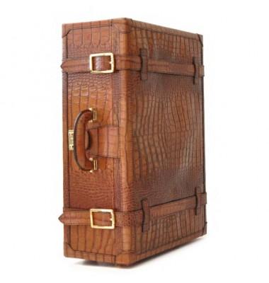 Pratesi Diligenza Travel Bag in cow leather - King Cognac