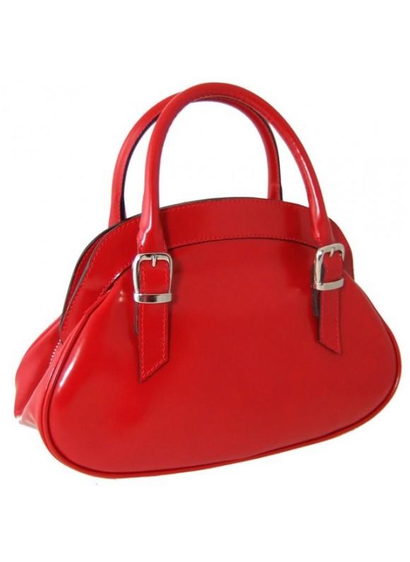 Pratesi Giotto Handbag in cow leather - Radica Cherry