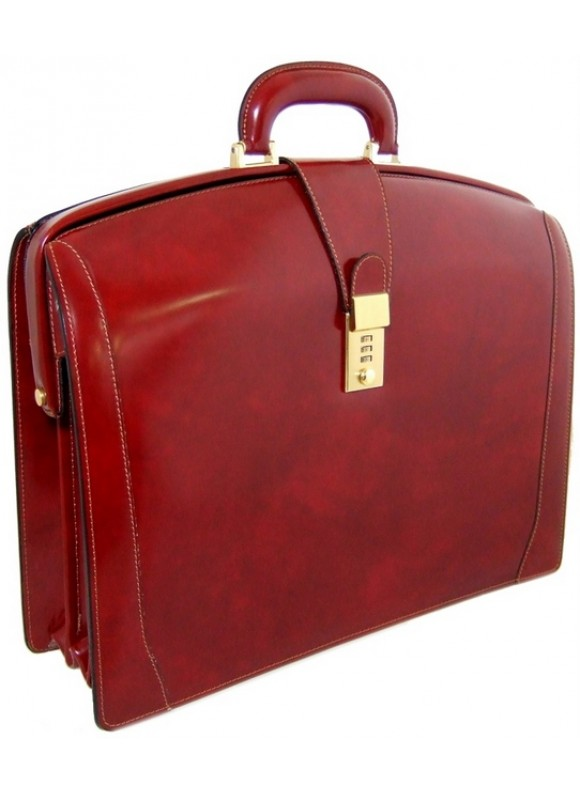 Pratesi Brunelleschi Briefcase in cow leather - Radica Chianti