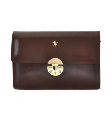 'Pratesi Lucrezia De'' Medici Cross Body-Bag in cow leather - Radica Coffee'