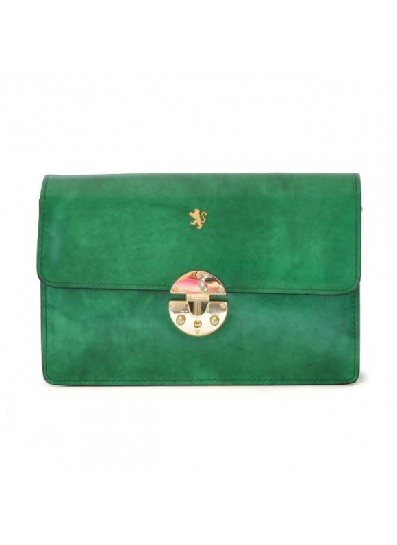 'Pratesi Lucrezia De'' Medici Cross Body-Bag in cow leather - Radica Emerald'