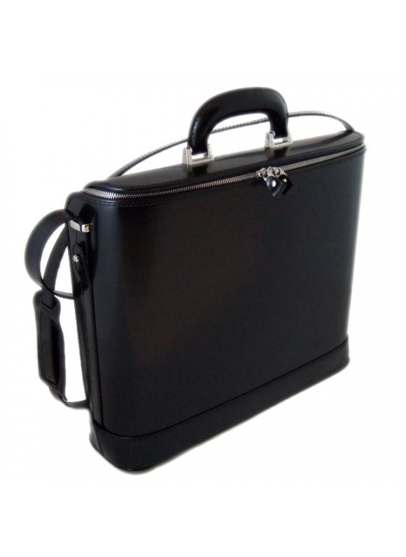Pratesi Raffaello Laptop Bag 15 in cow leather - Radica Black