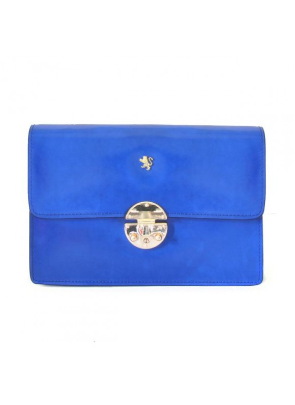 'Pratesi Lucrezia De'' Medici Cross Body-Bag in cow leather - Radica Electric Blue'