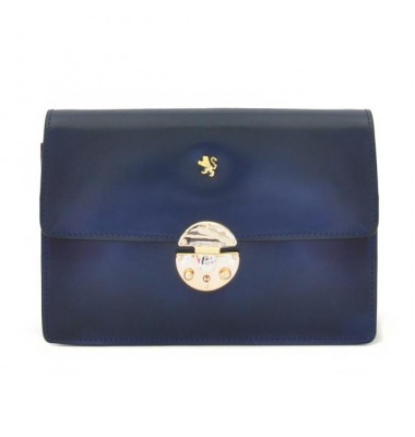 'Pratesi Lucrezia De'' Medici Cross Body-Bag in cow leather - Radica Blue'