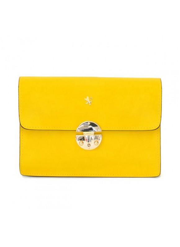 'Pratesi Lucrezia De'' Medici Cross Body-Bag in cow leather - Radica Yellow'