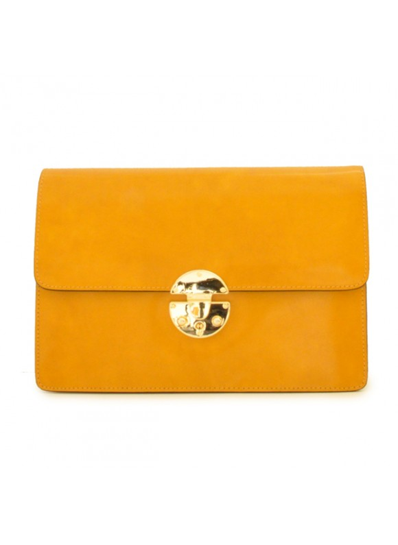 'Pratesi Lucrezia De'' Medici Cross Body-Bag in cow leather - Radica Mustard'