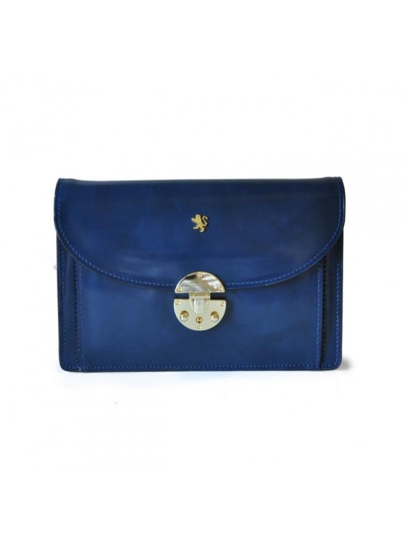'Pratesi Tullia d''Aragona Lady Bag in cow leather - Radica Blue'