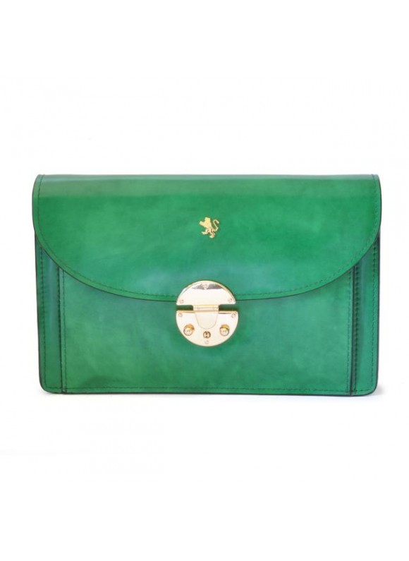 'Pratesi Tullia d''Aragona Lady Bag in cow leather - Radica Emerald'
