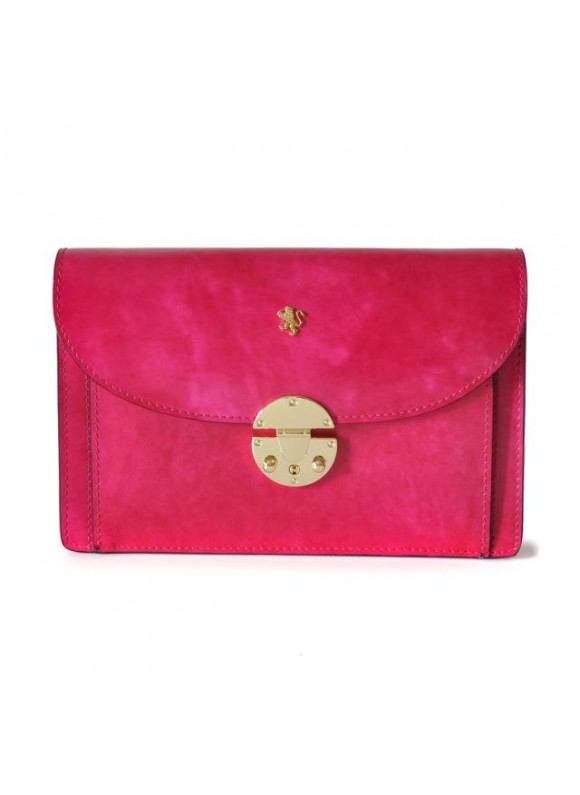 'Pratesi Tullia d''Aragona Lady Bag in cow leather - Radica Fuchsia'