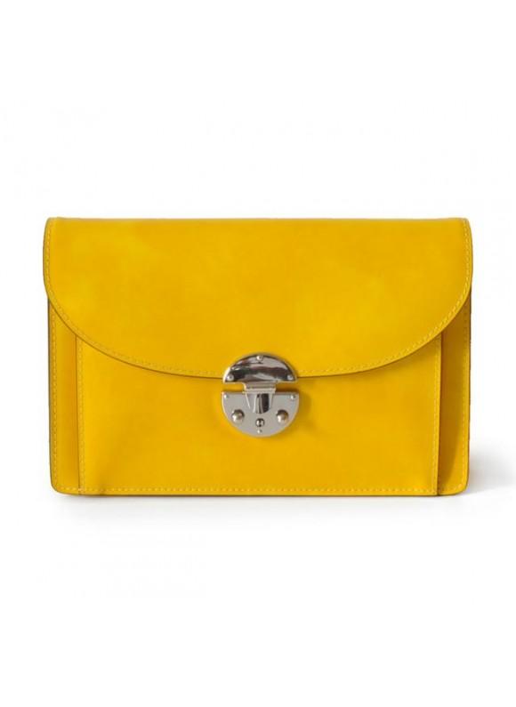 'Pratesi Tullia d''Aragona Lady Bag in cow leather - Radica Yellow'