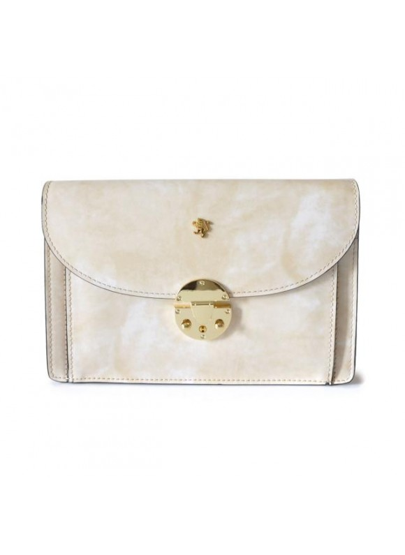 'Pratesi Tullia d''Aragona Lady Bag in cow leather - Radica White'