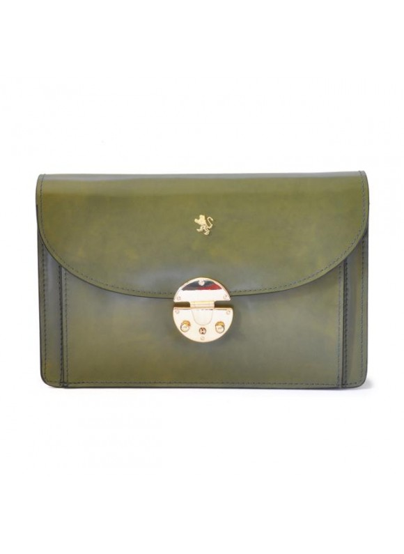 'Pratesi Tullia d''Aragona Lady Bag in cow leather - Radica Dark Green'