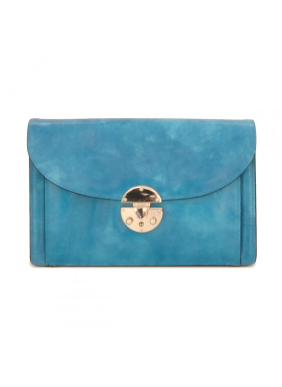'Pratesi Tullia d''Aragona Lady Bag in cow leather - Radica Sky-Blue'
