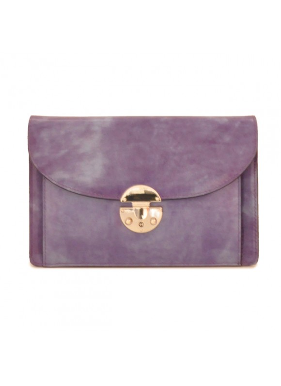 'Pratesi Tullia d''Aragona Lady Bag in cow leather - Radica Violet'