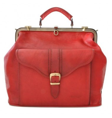 Pratesi Travel Bag Mary Poppins in cow leather - Bruce Cherry