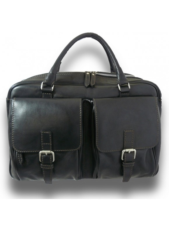Pratesi Briefcase Montalcino in cow leather - Bruce Black