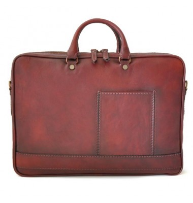 Pratesi Briefcase Cortona in cow leather - Bruce Chianti