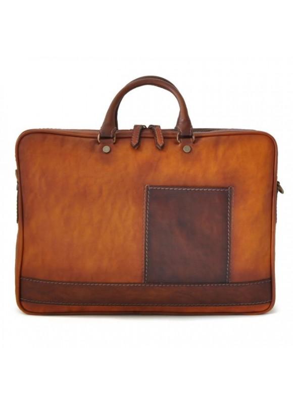 Pratesi Briefcase Cortona in cow leather - Bruce Cognac