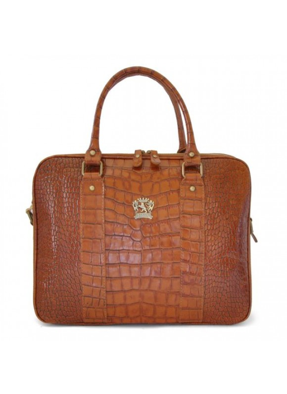 Pratesi Magliano King Briefcase in cow leather - King Cognac