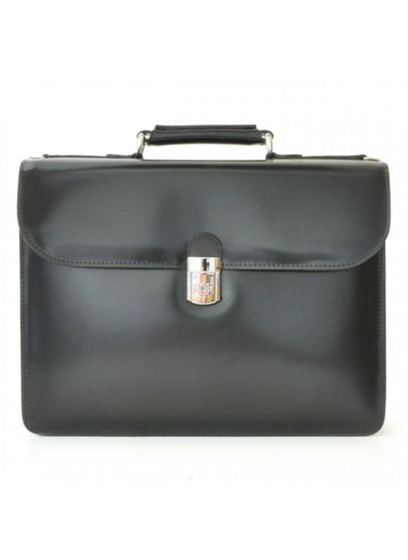 Pratesi Verrocchio PC Briefcase in cow leather - Radica Black