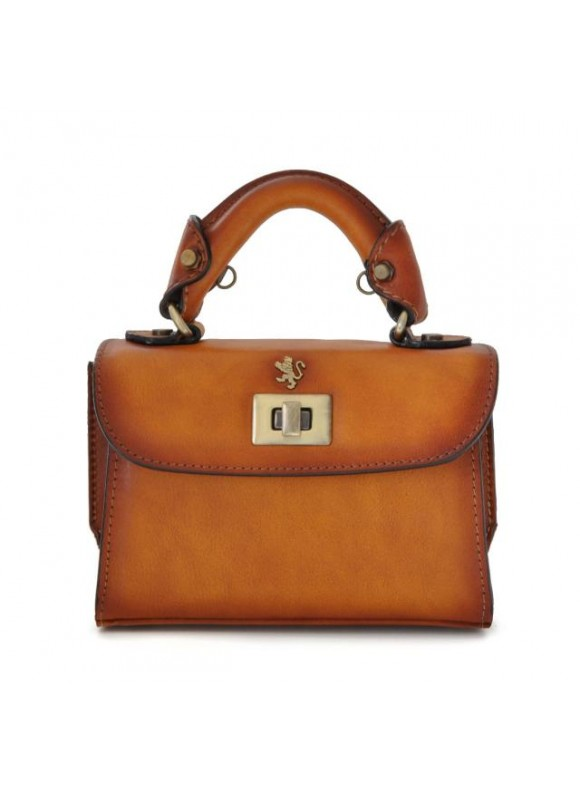Pratesi Lucignano Small Bruce Handbag in cow leather - Bruce Cognac