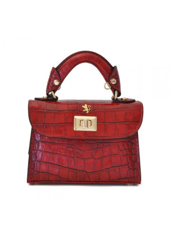 Pratesi Lucignano Small Handbag in cow leather - King Cherry