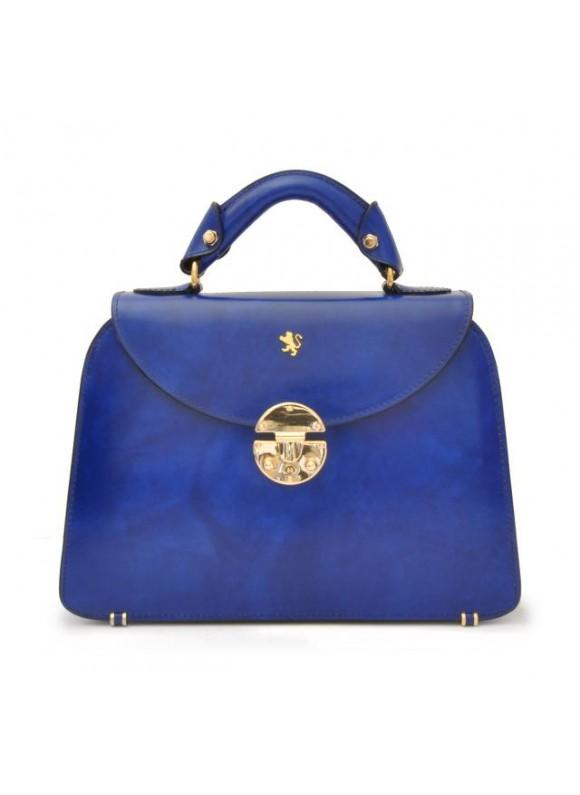 Pratesi Veneziano Small Lady Bag in cow leather - Radica Electric Blue
