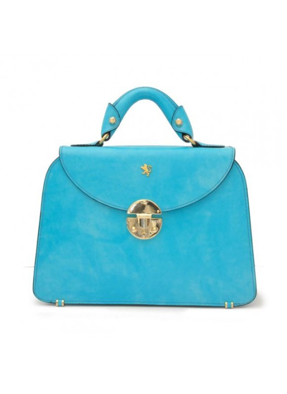 Pratesi Veneziano Small Lady Bag in cow leather - Radica Sky Blue