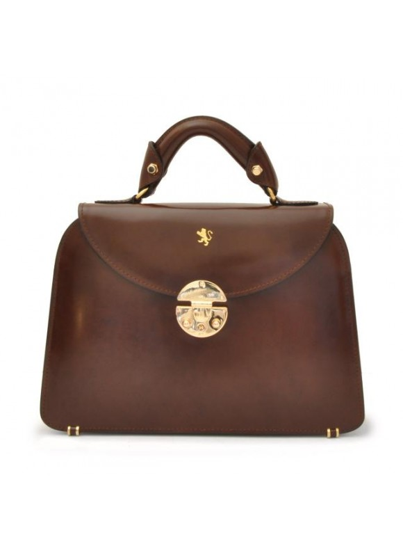 Pratesi Veneziano Small Lady Bag in cow leather - Radica Coffee