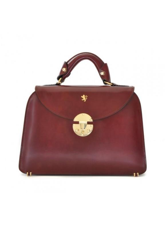 Pratesi Veneziano Small Lady Bag in cow leather - Radica Chianti