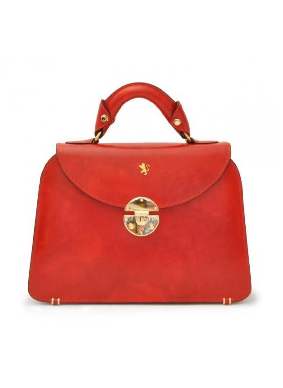 Pratesi Veneziano Small Lady Bag in cow leather - Radica Cherry