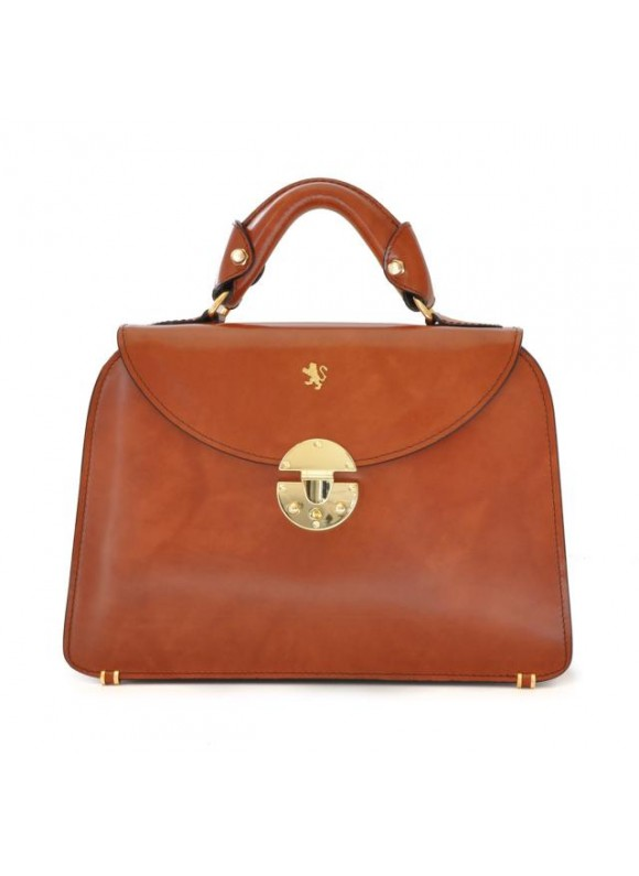 Pratesi Veneziano Small Lady Bag in cow leather - Radica Brown