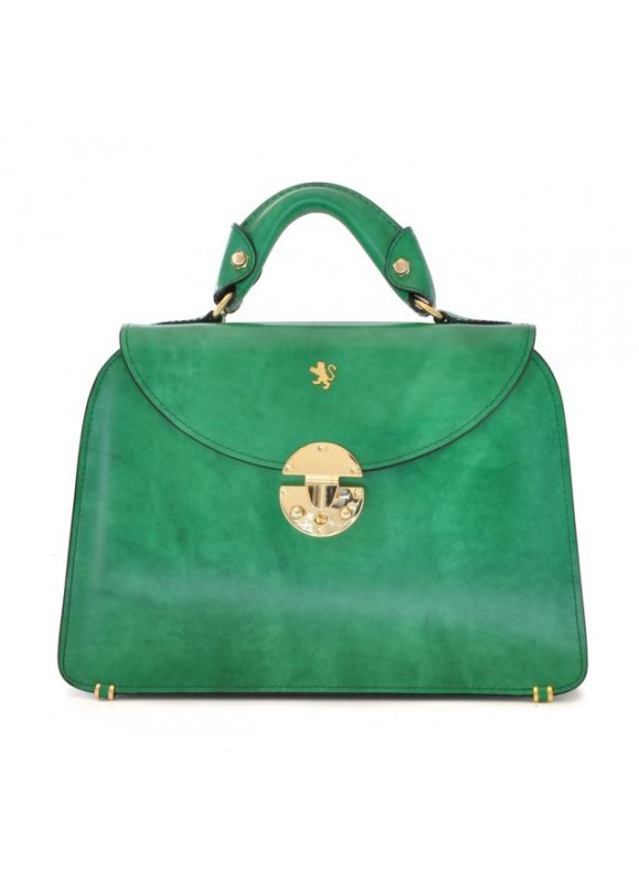 Pratesi Veneziano Small Lady Bag in cow leather - Radica Emerald