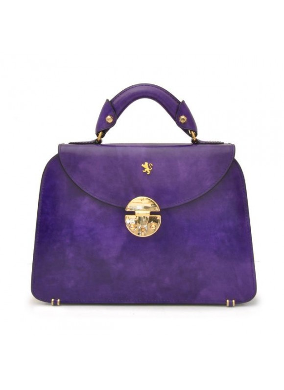 Pratesi Veneziano Small Lady Bag in cow leather - Radica Violet