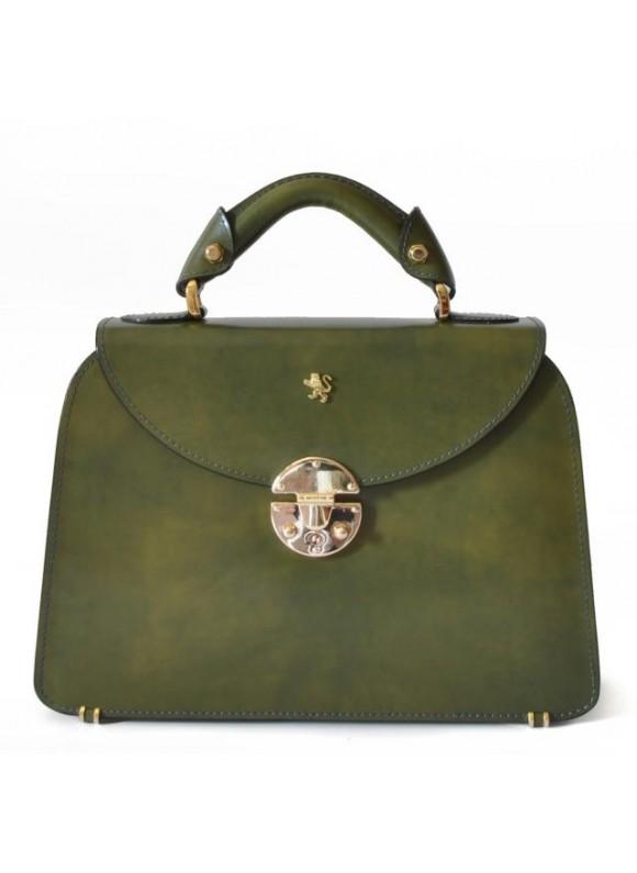 Pratesi Veneziano Small Lady Bag in cow leather - Radica Dark Green