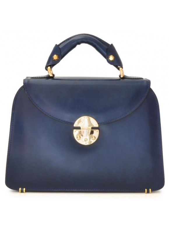 Pratesi Veneziano Small Lady Bag in cow leather - Radica Blue