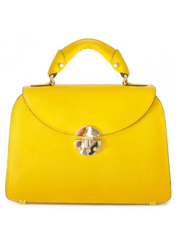 Pratesi Veneziano Small Lady Bag in cow leather - Radica Yellow