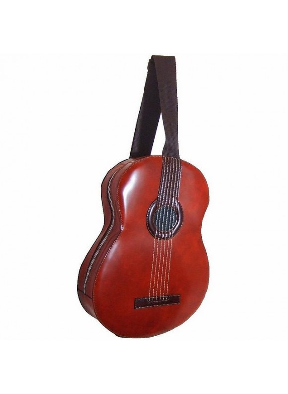 Pratesi Da Filicaja Guitar Backpack in cow leather - Radica Brown