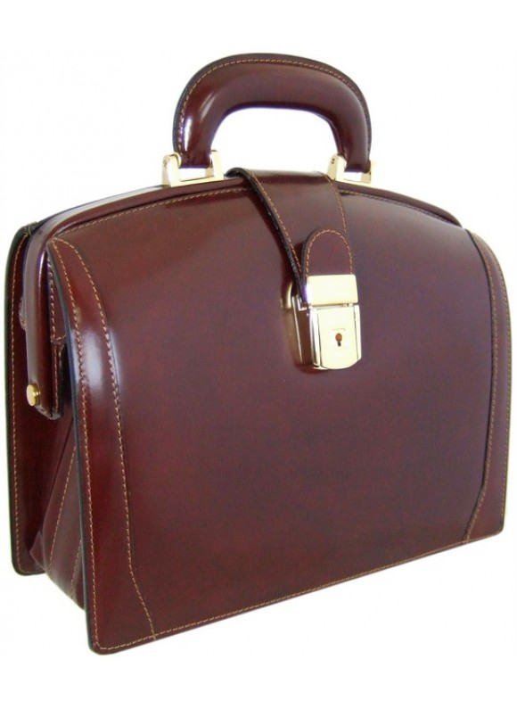 Pratesi Miss Brunelleschi Bag in cow leather - Radica Coffee