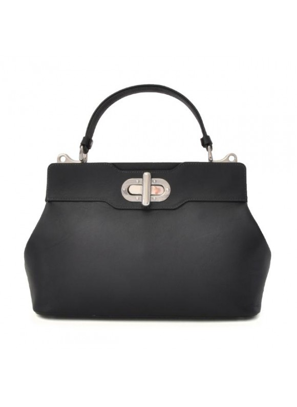 Pratesi Woman Bag Panzano in cow leather - Bruce Black