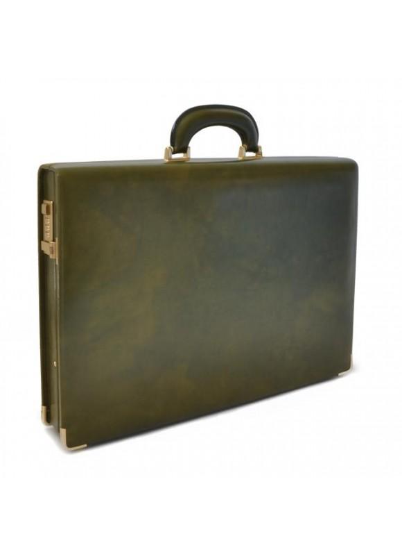 Pratesi Machiavelli Slim Attach Case in cow leather - Radica Dark Green