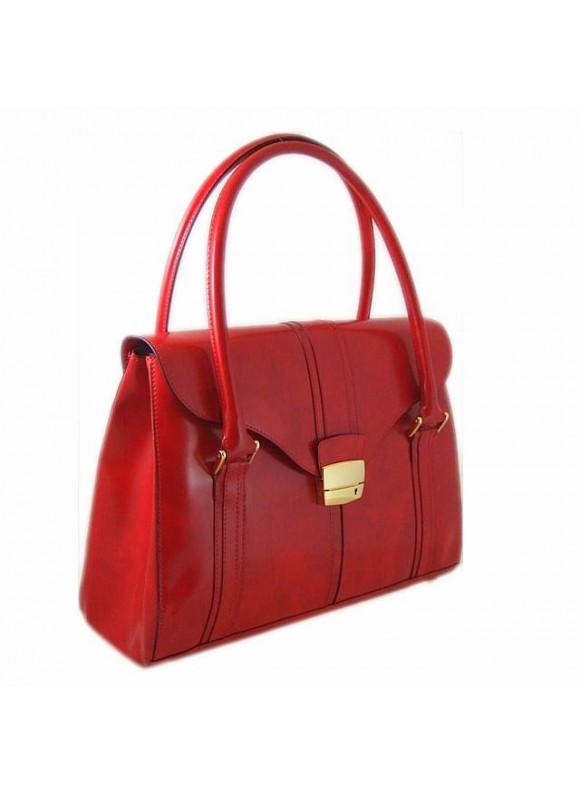 Pratesi Pinturicchio Shoulder Bag in cow leather - Radica Cherry