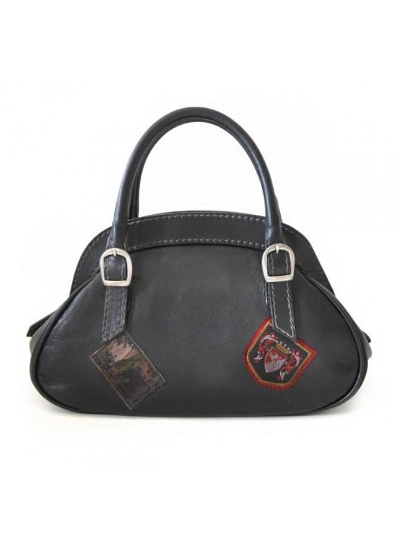 Pratesi Handbag Giotto in cow leather - Bruce Black