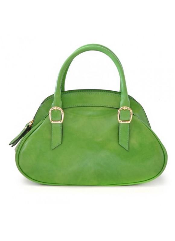 Pratesi Giotto Handbag in cow leather - Radica Green