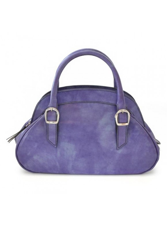 Pratesi Giotto Handbag in cow leather - Radica Violet