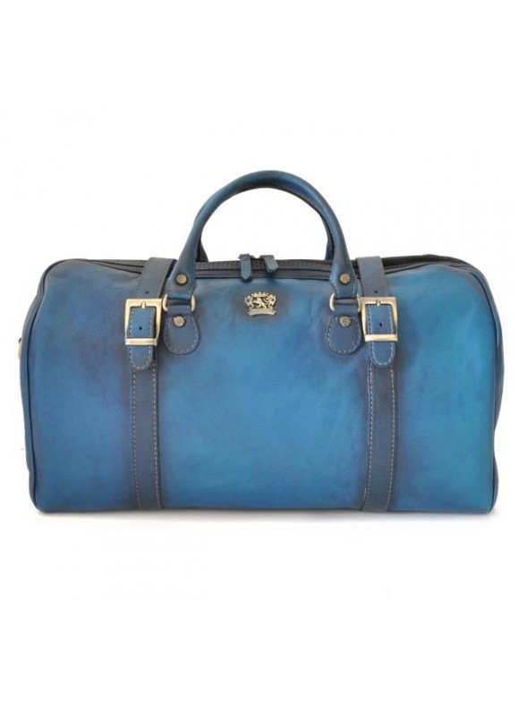 Pratesi Travel bag Perito Moreno in cow leather - Bruce Blue