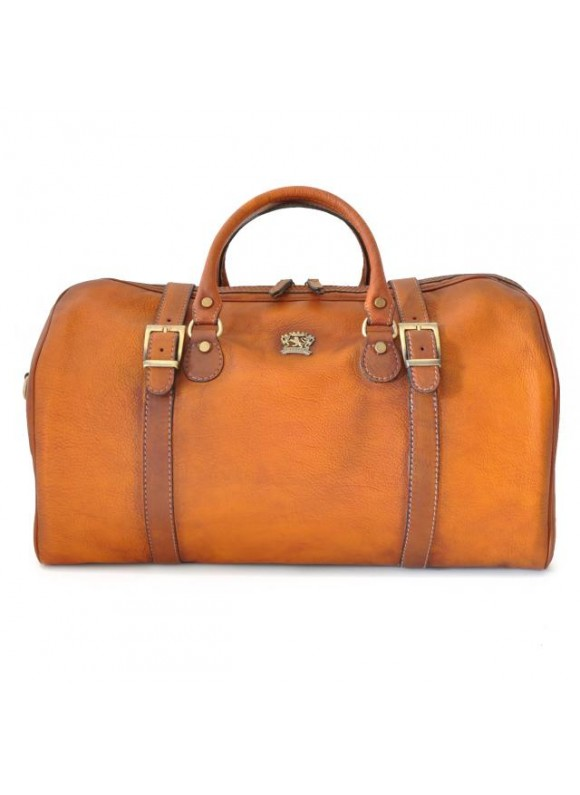 Pratesi Travel bag Perito Moreno in cow leather - Bruce Cognac